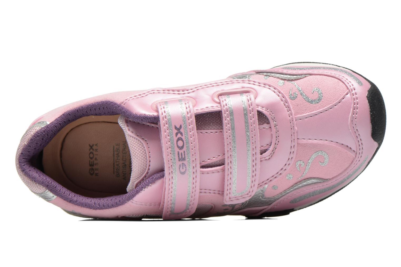 Sneaker Geox J N.Jocker rosa ansicht von links