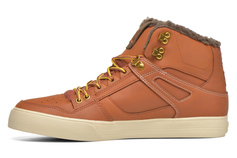 Baskets DC Shoes Spartan High WC Marron vue face