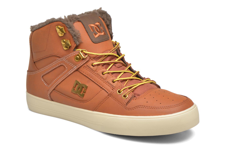 Baskets DC Shoes Spartan High WC Marron vue détail/paire