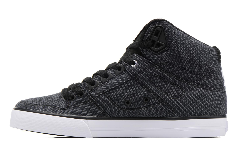 Sneakers DC Shoes Spartan High WC Zwart voorkant