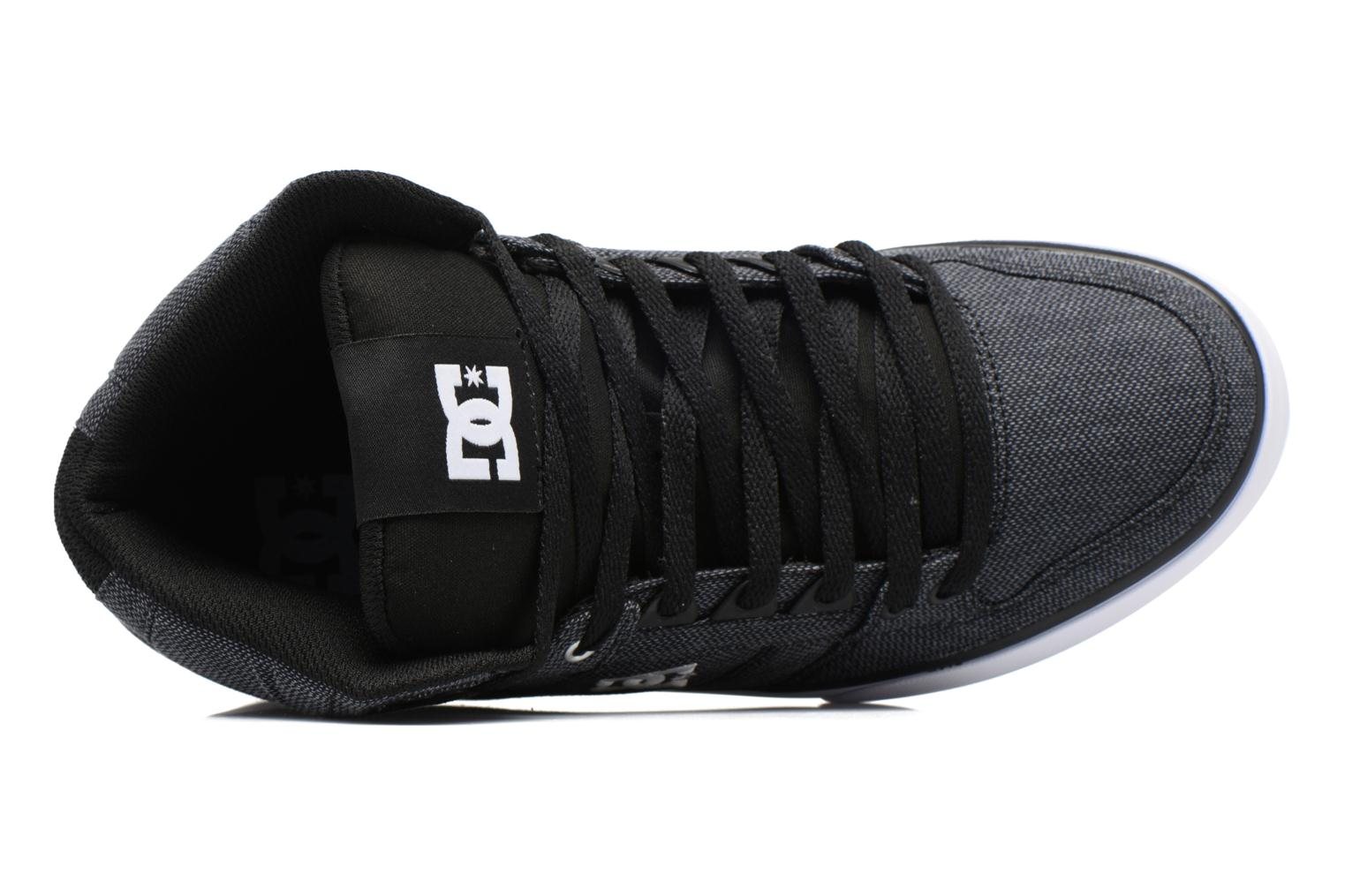 Sneaker DC Shoes Spartan High WC schwarz ansicht von links