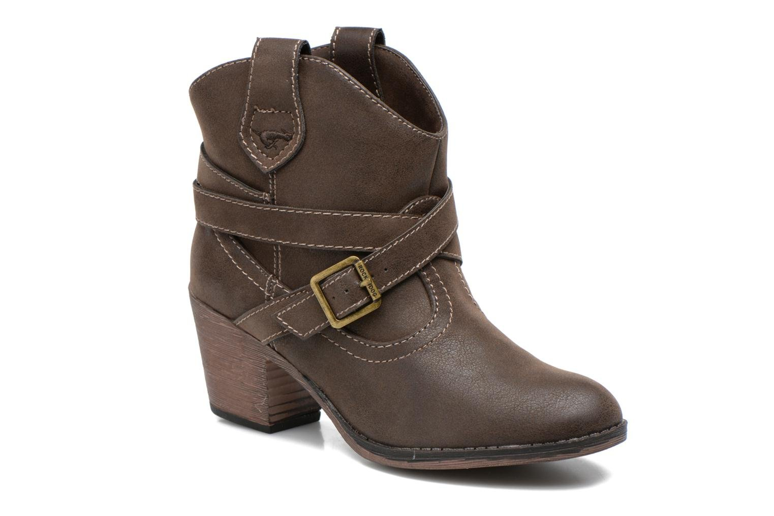 Ankle boots Rocket Dog Sandpiper Brown detailed view/ Pair view