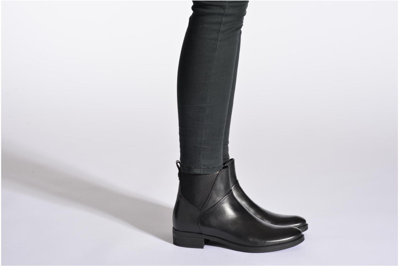 Stiefeletten & Boots Geox D MENDI ST D D5490D braun ansicht von unten / tasche getragen