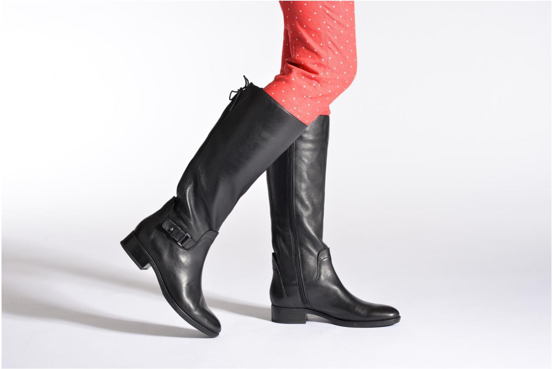 Stiefel Geox D FELICITY A D54G1A schwarz ansicht von unten / tasche getragen