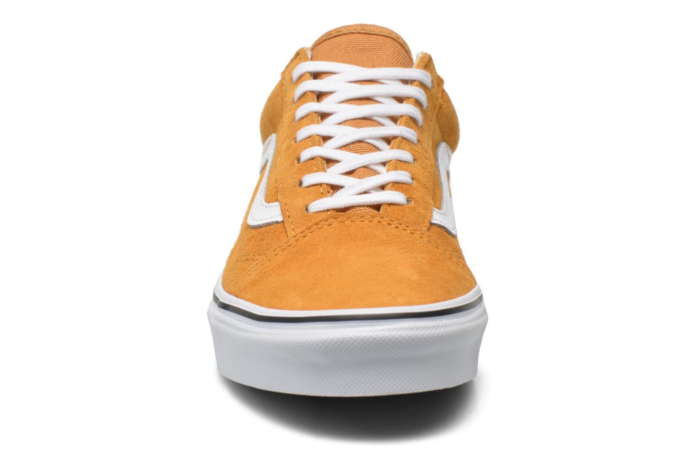 Baskets Vans Old Skool E Jaune vue portées chaussures