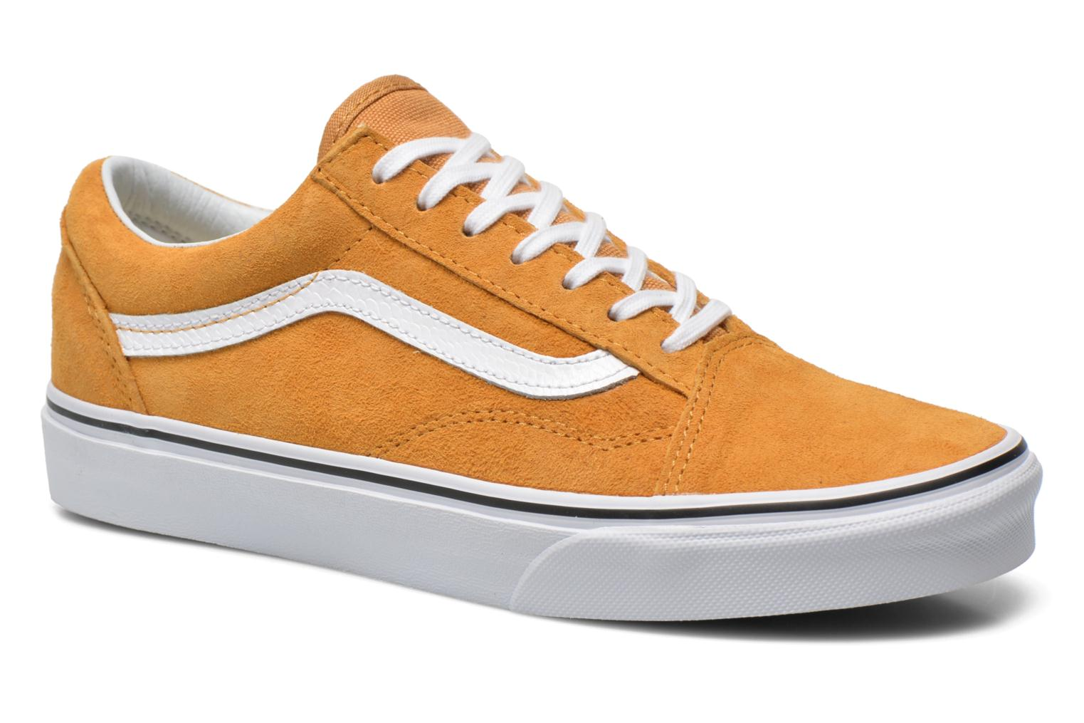 Baskets Vans Old Skool E Jaune vue détail/paire
