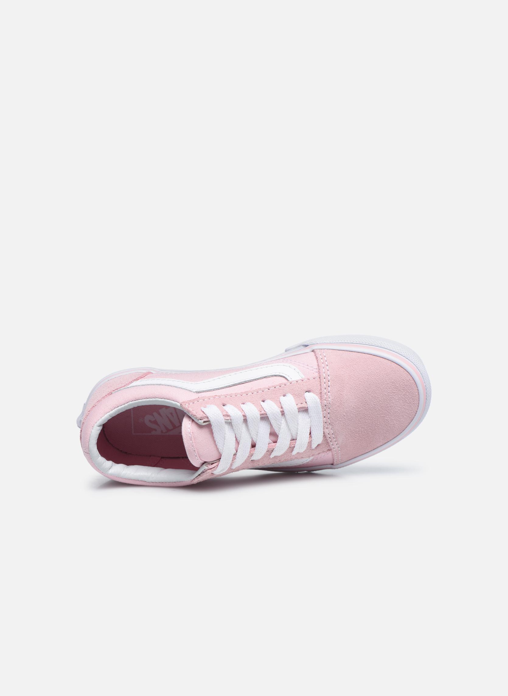 Old Skool E (Suede/Canvas) Chalk Pink/True White