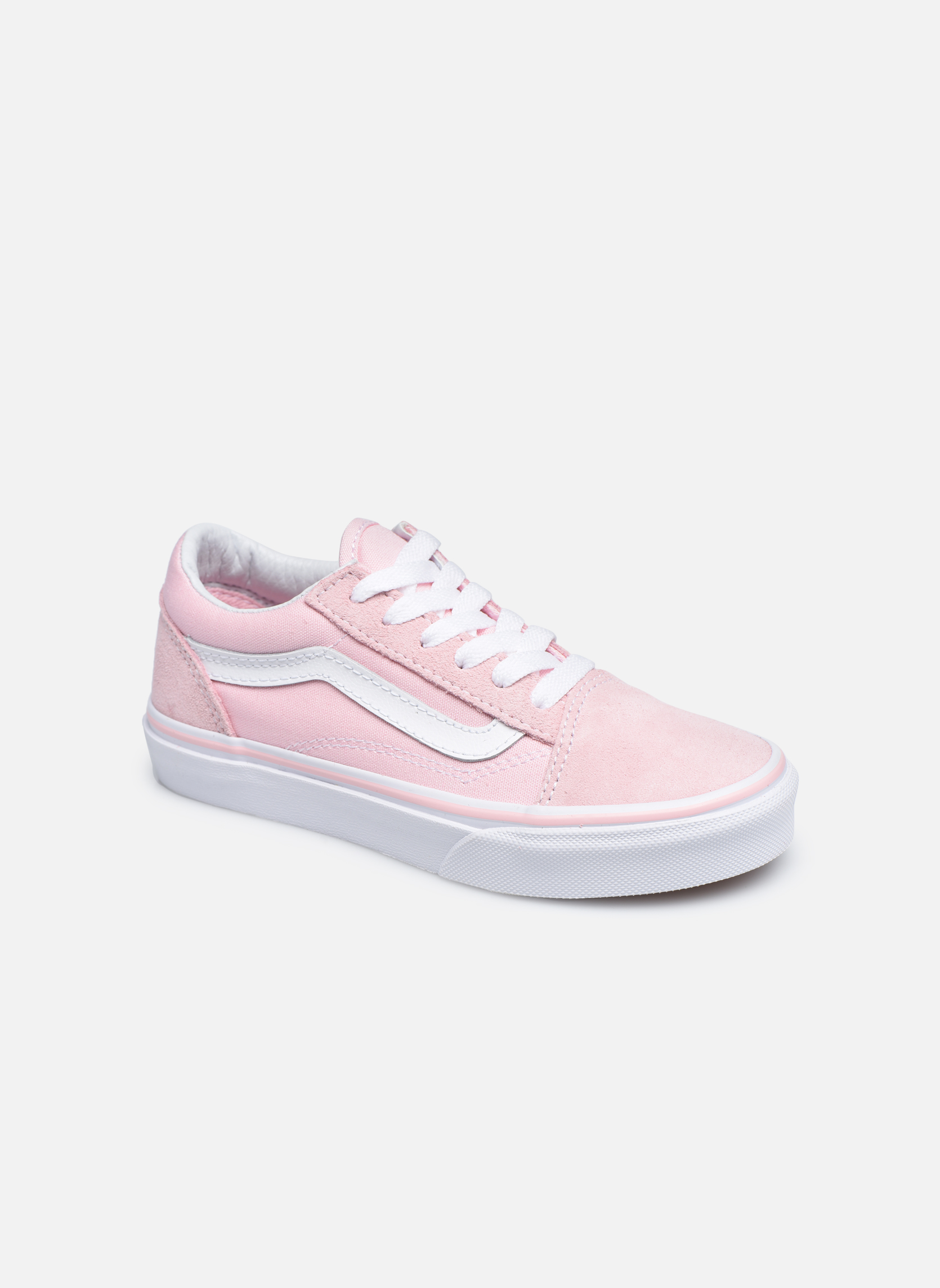 (Suede/Canvas) Chalk Pink/True White