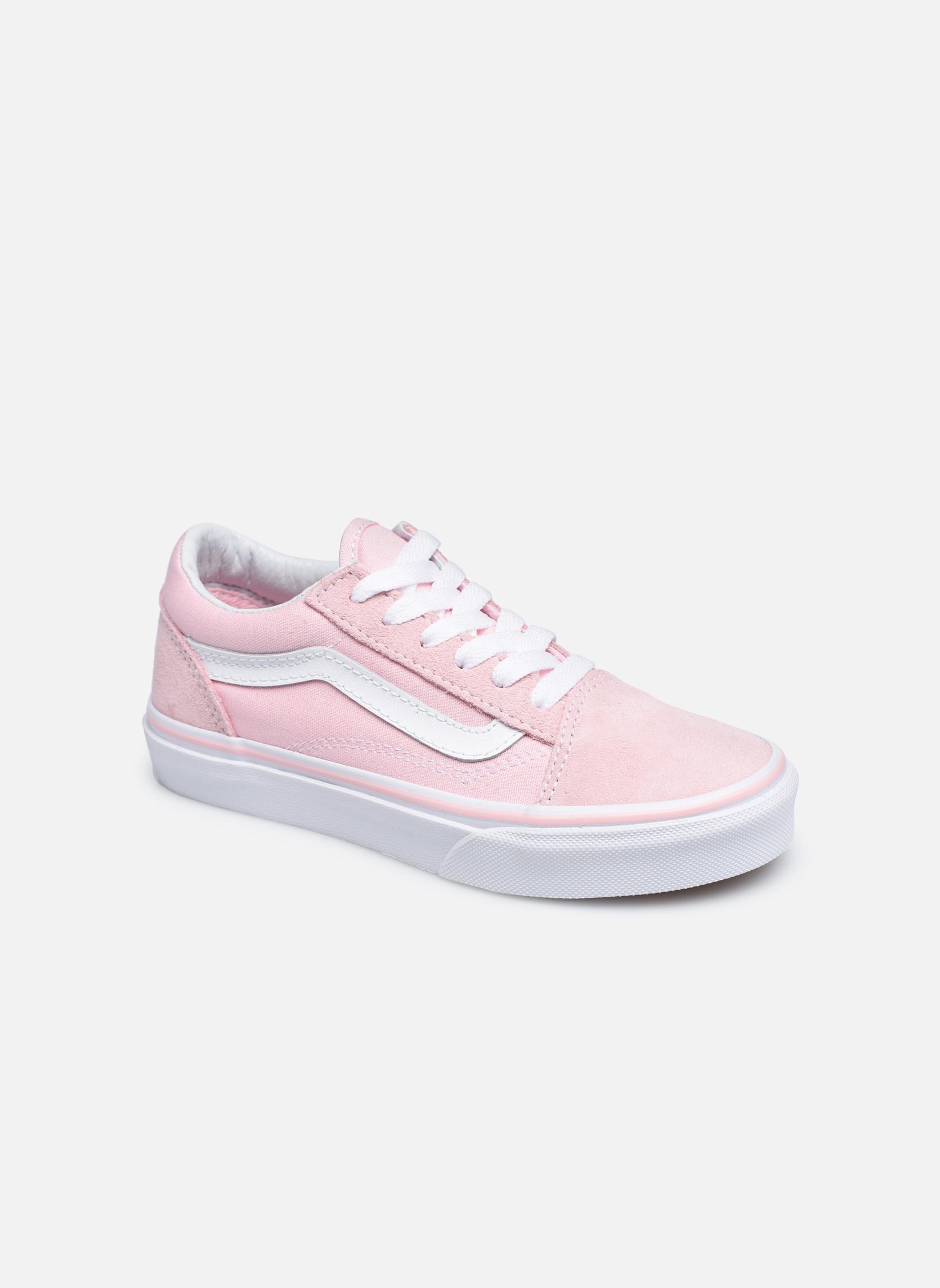 (Suede/Canvas) Chalk Pink/True White