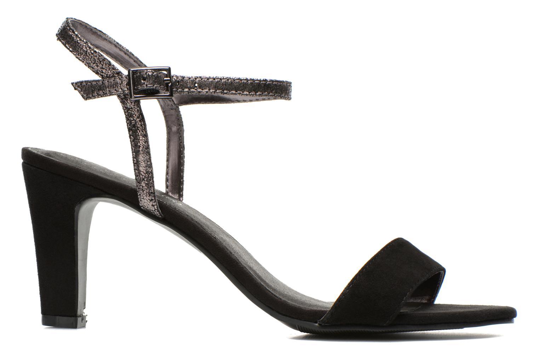 Sandales et nu-pieds Initiale Paris Cerise Noir vue derrière