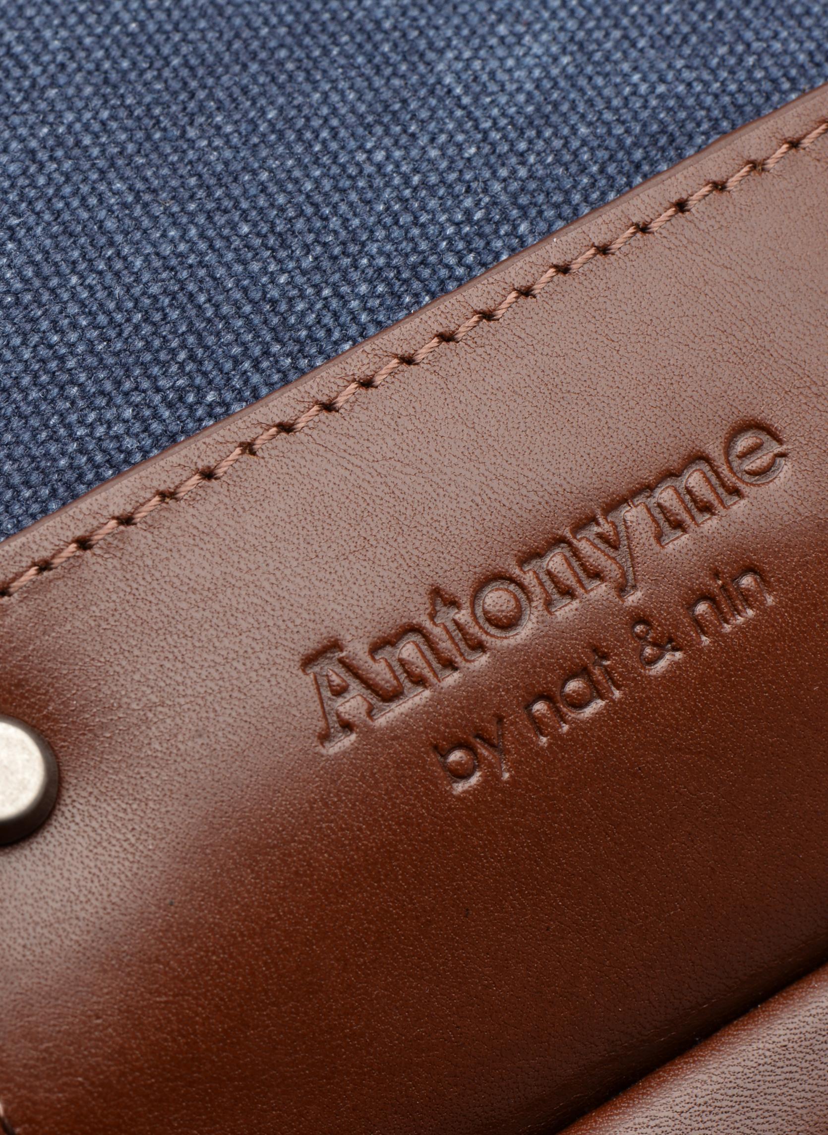 Rucksäcke Antonyme by Nat & Nin Ethan blau ansicht von links