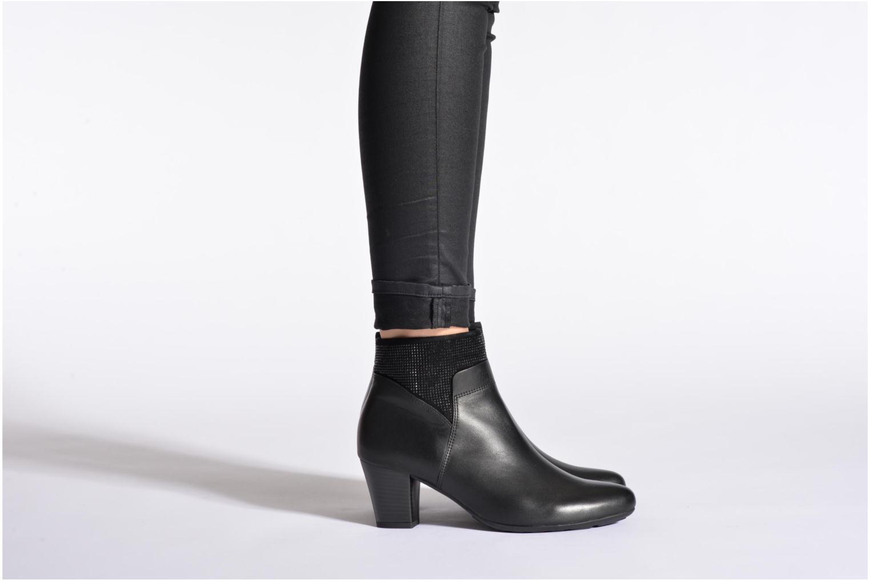 Bottines et boots Gabor Norma Noir vue bas / vue portée sac