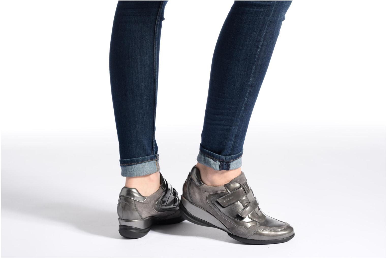 Sneaker Geox D PERSEFONE A D540RA grau ansicht von unten / tasche getragen