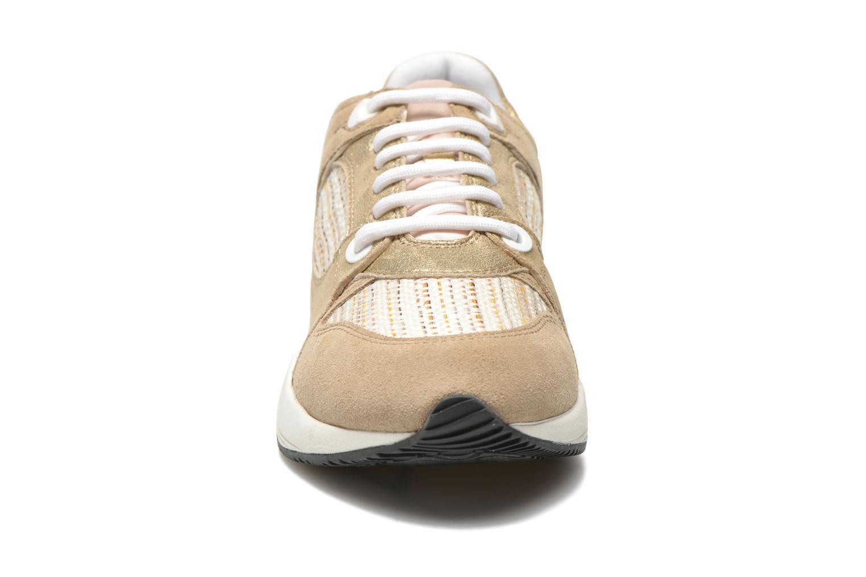 Baskets Geox D OMAYA A D540SA Or et bronze vue portées chaussures