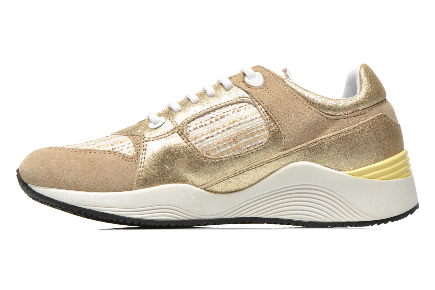 Trainers Geox D OMAYA A D540SA Bronze and Gold front view