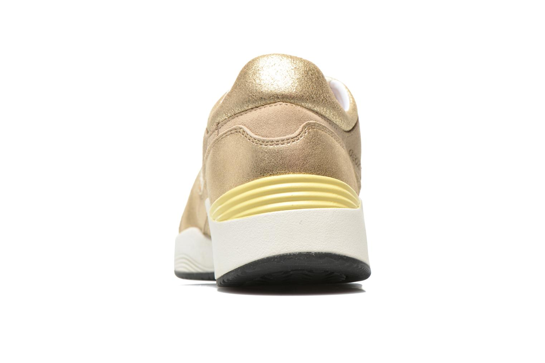 Baskets Geox D OMAYA A D540SA Or et bronze vue droite