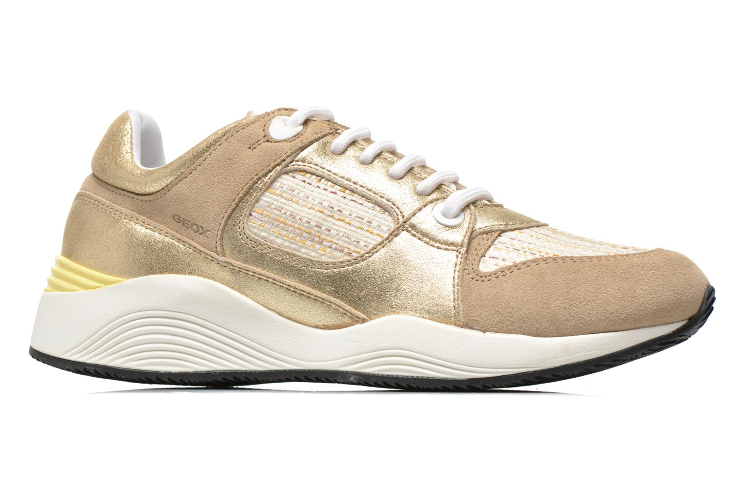 Trainers Geox D OMAYA A D540SA Bronze and Gold back view