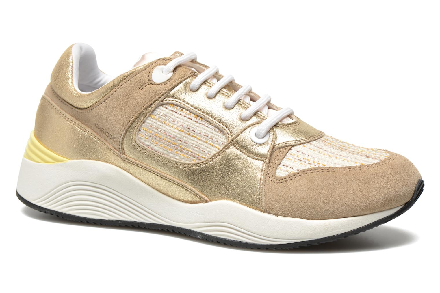 Trainers Geox D OMAYA A D540SA Bronze and Gold detailed view/ Pair view