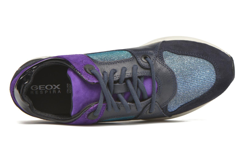 Baskets Geox D OMAYA A D540SA Bleu vue gauche