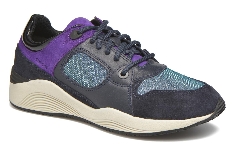 Baskets Geox D OMAYA A D540SA Bleu vue détail/paire