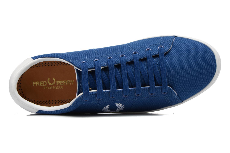 Baskets Fred Perry Spencer Canvas Bleu vue gauche