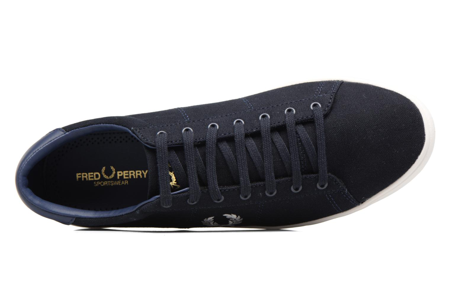 Baskets Fred Perry Spencer Canvas Bleu vue gauche