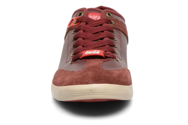 Baskets Coca-cola shoes Montreal Low Bordeaux vue portées chaussures