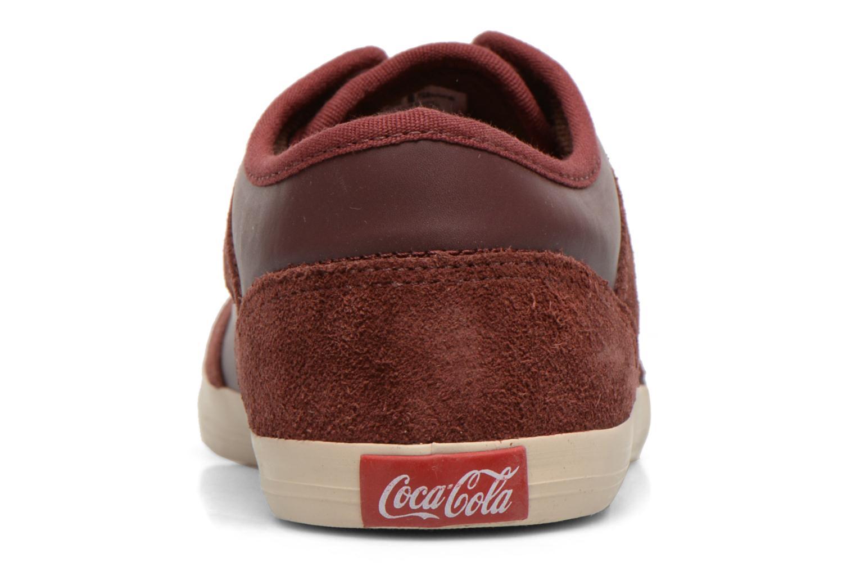 Baskets Coca-cola shoes Montreal Low Bordeaux vue droite