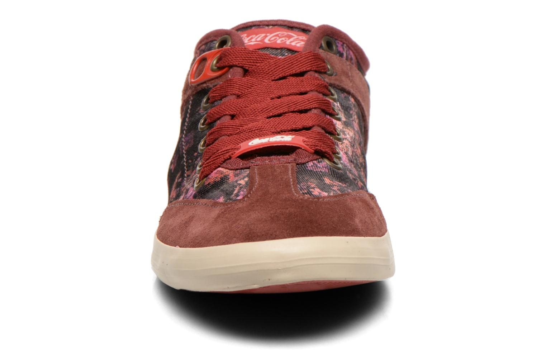Sneaker Coca-cola shoes Montreal low print weinrot schuhe getragen