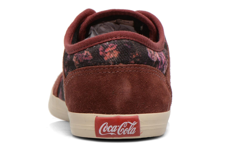 Sneaker Coca-cola shoes Montreal low print weinrot ansicht von rechts