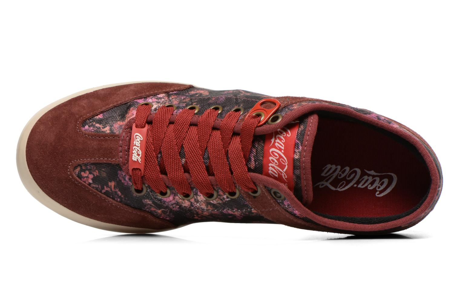 Sneaker Coca-cola shoes Montreal low print weinrot ansicht von links