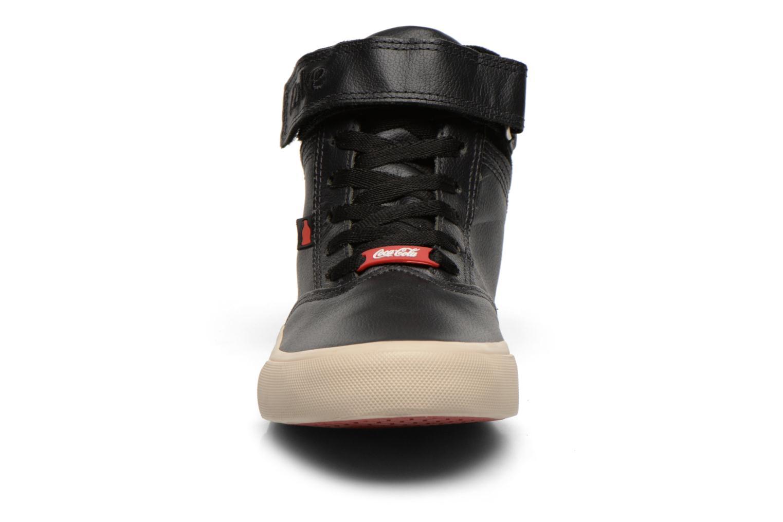Baskets Coca-cola shoes Mika leather Noir vue portées chaussures