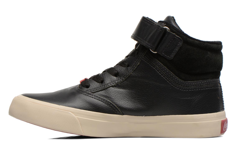 Baskets Coca-cola shoes Mika leather Noir vue face
