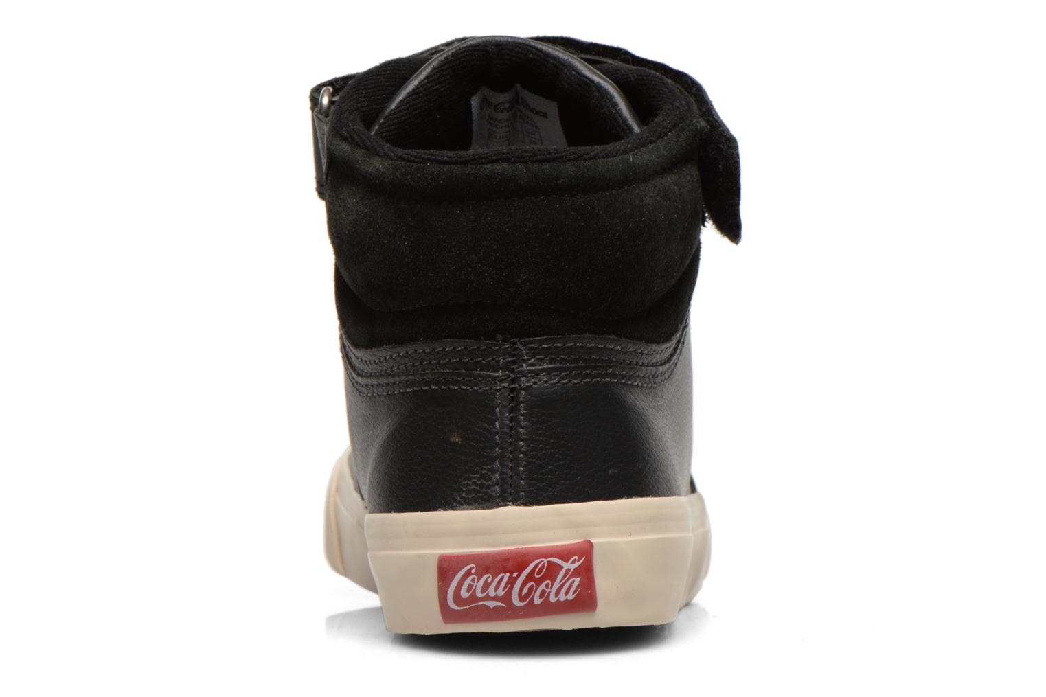 Trainers Coca-cola shoes Mika leather Black view from the right