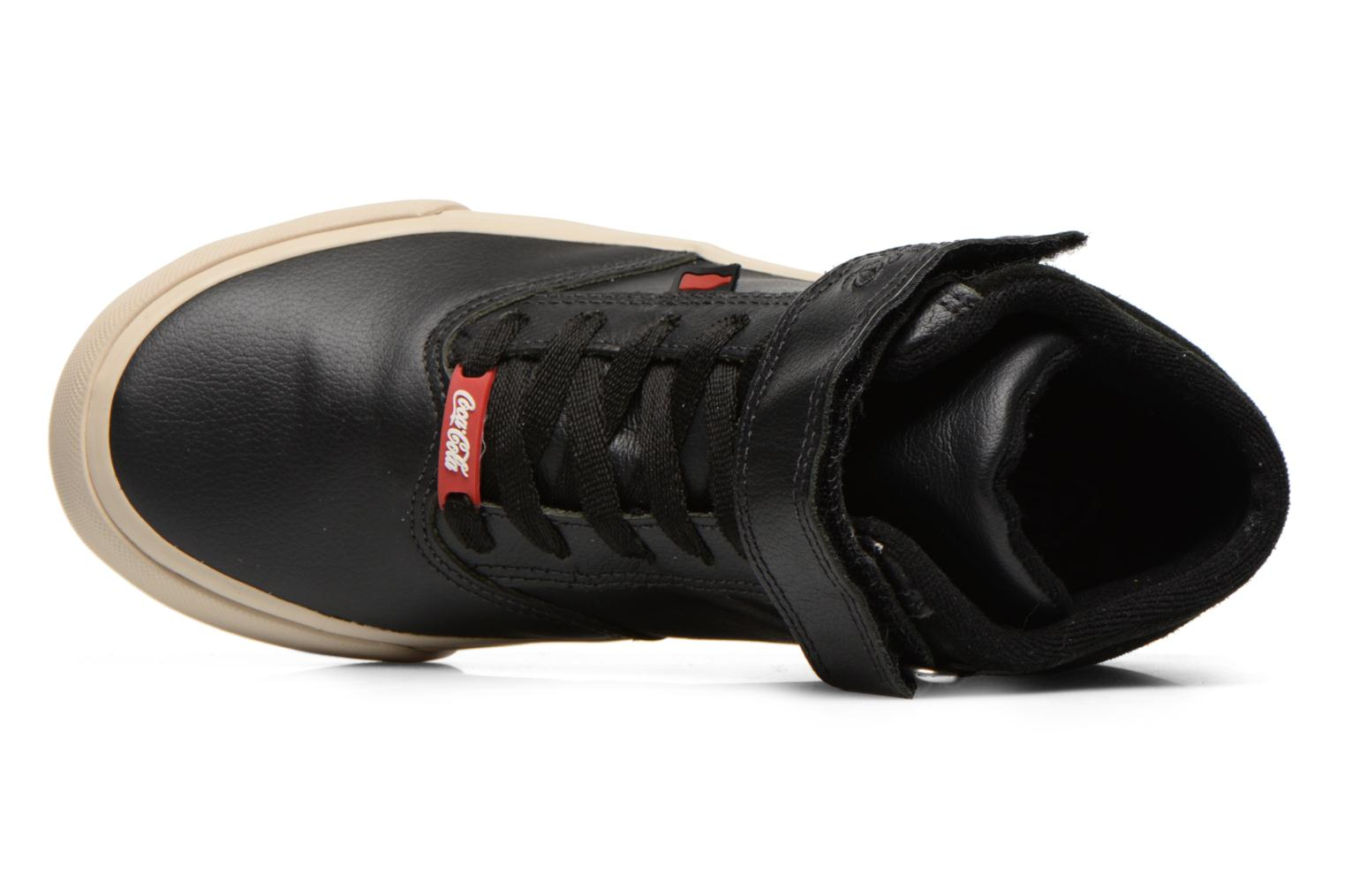Sneakers Coca-cola shoes Mika leather Sort se fra venstre