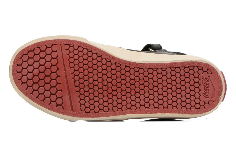 Baskets Coca-cola shoes Mika leather Noir vue haut