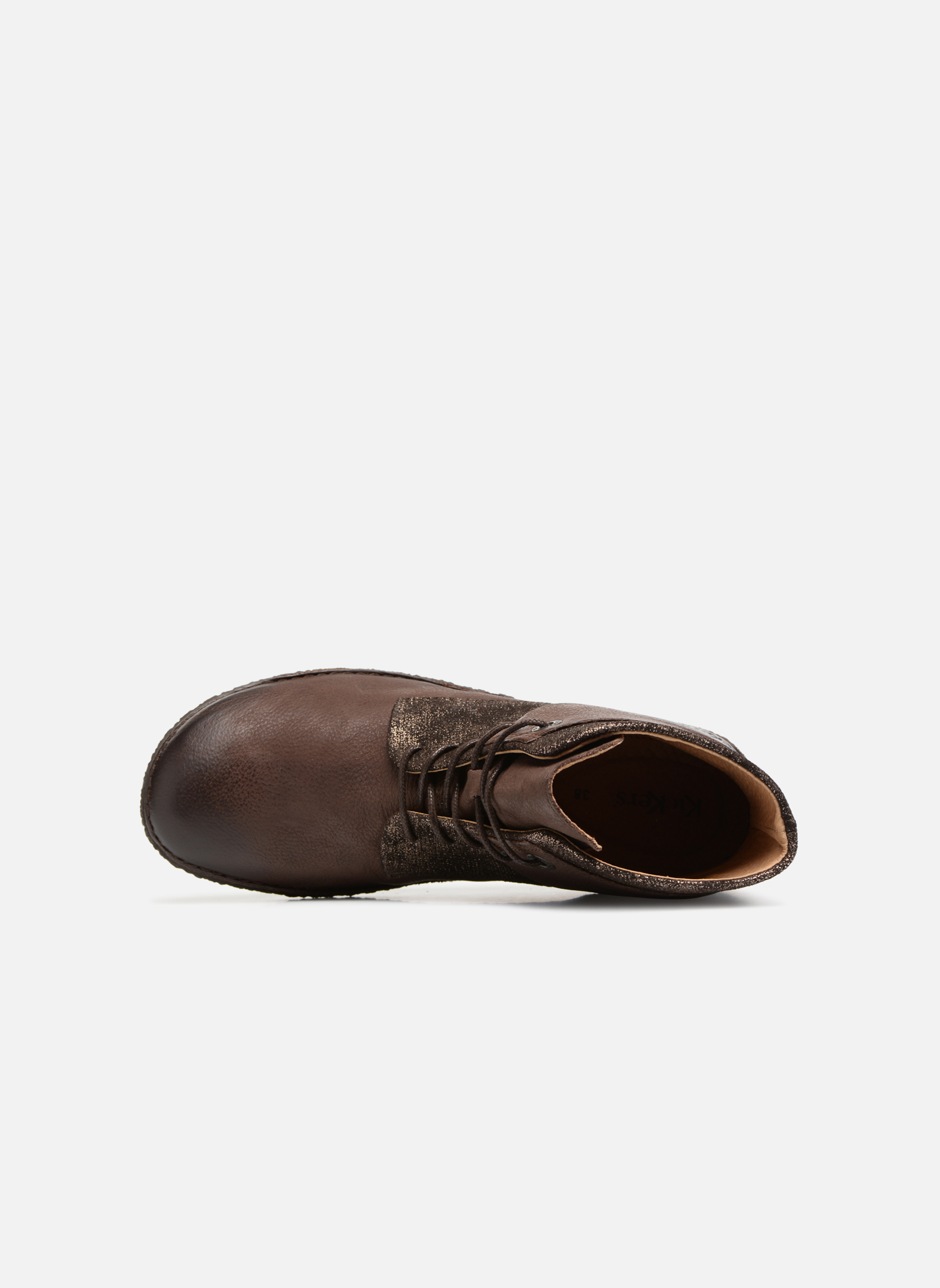 Bottines et boots Kickers HOBYLOW Marron vue gauche