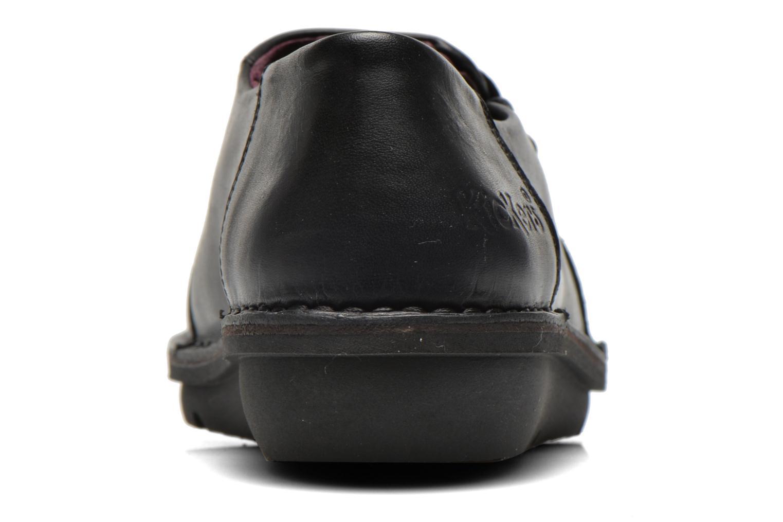 Zapatos con cordones Kickers CRUZ Negro vista lateral derecha
