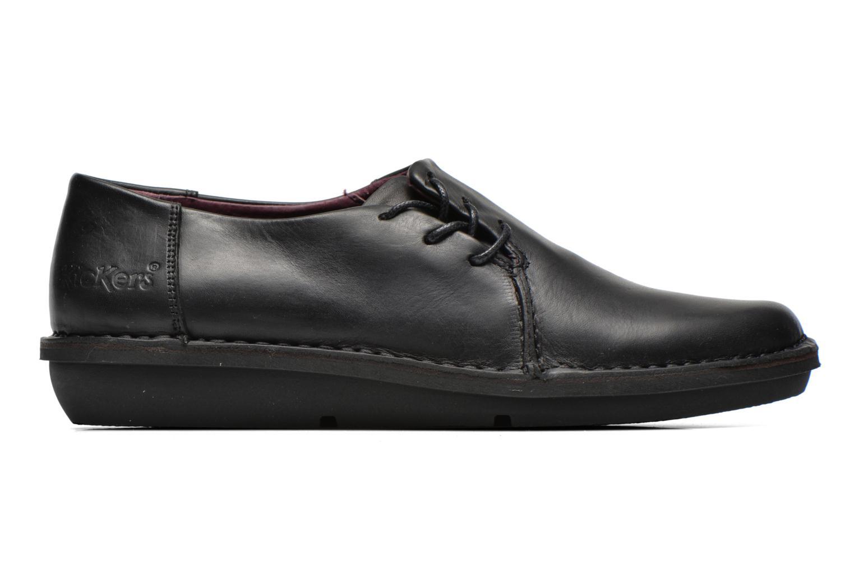 Zapatos con cordones Kickers CRUZ Negro vistra trasera