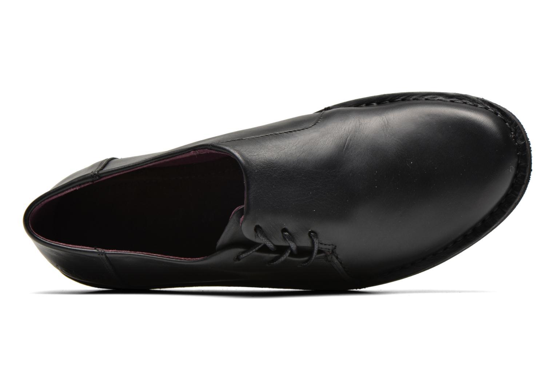 Zapatos con cordones Kickers CRUZ Negro vista lateral izquierda