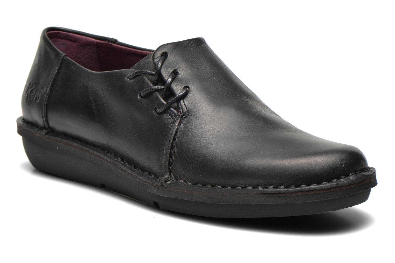 Zapatos con cordones Kickers CRUZ Negro vista de detalle / par
