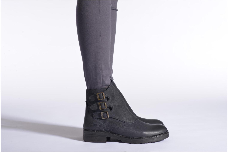 Bottines et boots Kickers Rouille Marron vue bas / vue portée sac