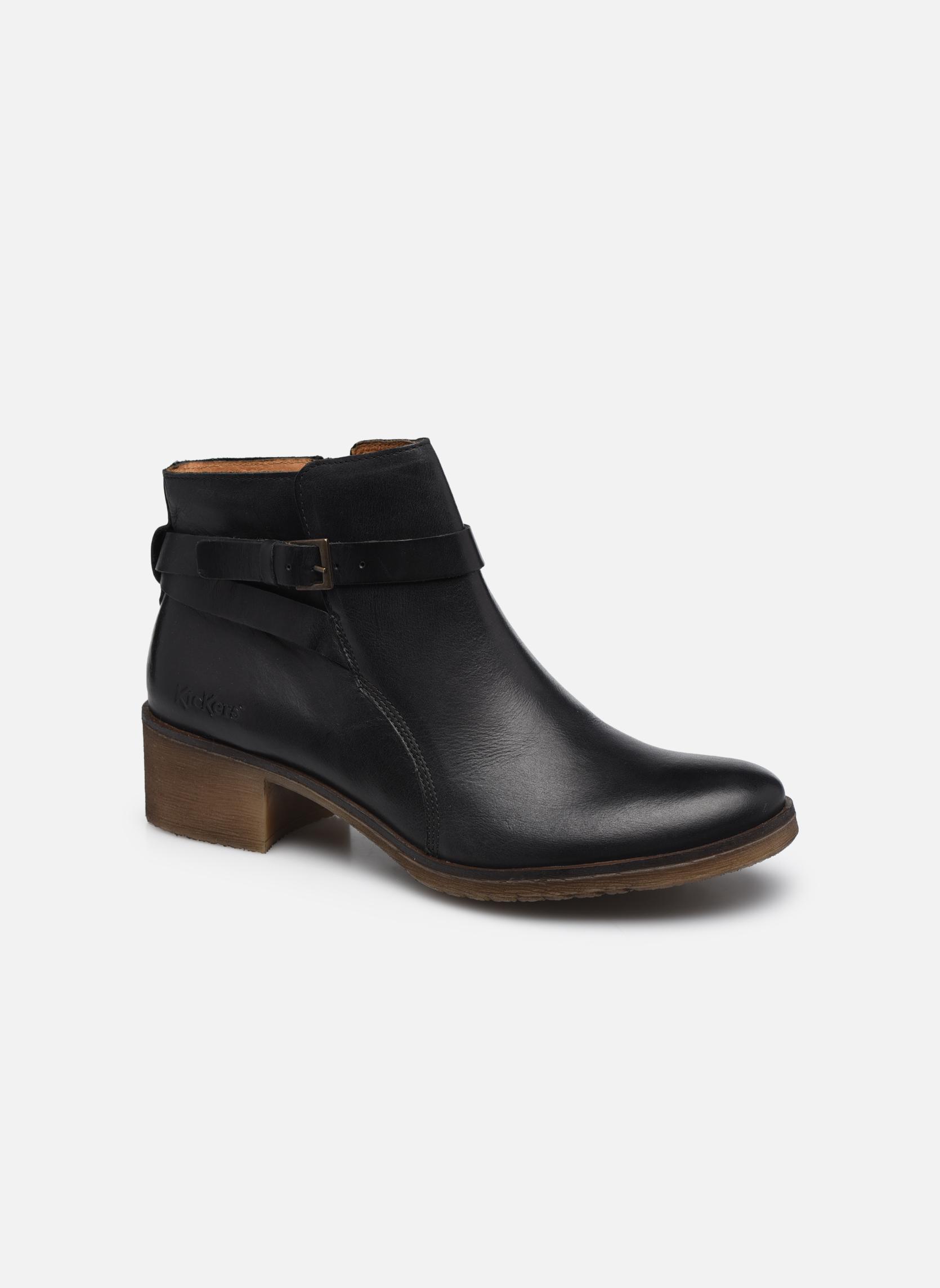 Bottines et boots Kickers Mila Noir vue détail/paire