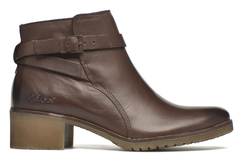 Stiefeletten & Boots Kickers Mila braun ansicht von hinten