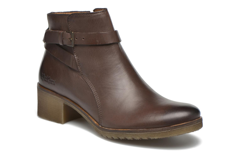 Ankelstøvler Kickers Mila Brun detaljeret billede af skoene
