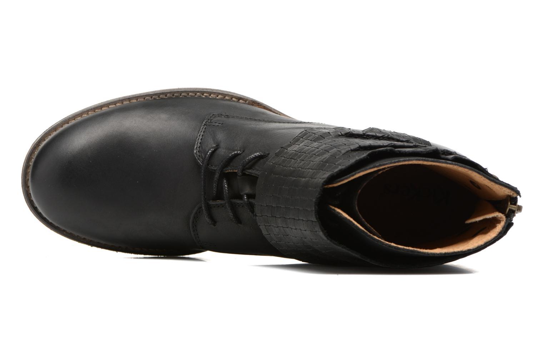 Stiefeletten & Boots Kickers Punkyzip schwarz ansicht von links