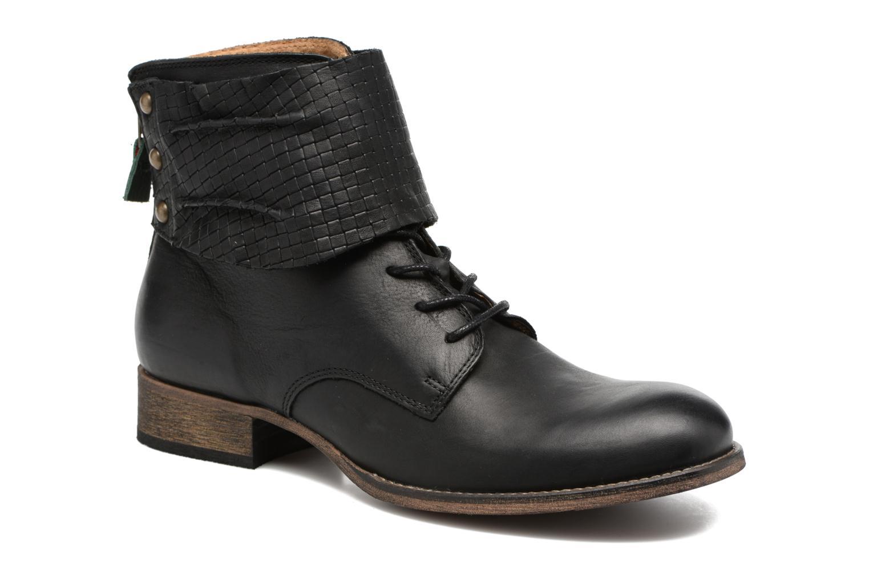 Bottines et boots Kickers Punkyzip Noir vue détail/paire