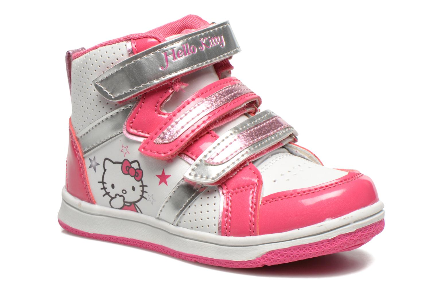 Baskets Hello Kitty HK Leonora Blanc vue détail/paire