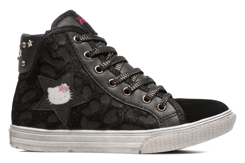 Sneakers Hello Kitty HK Vatete Leo Zwart achterkant