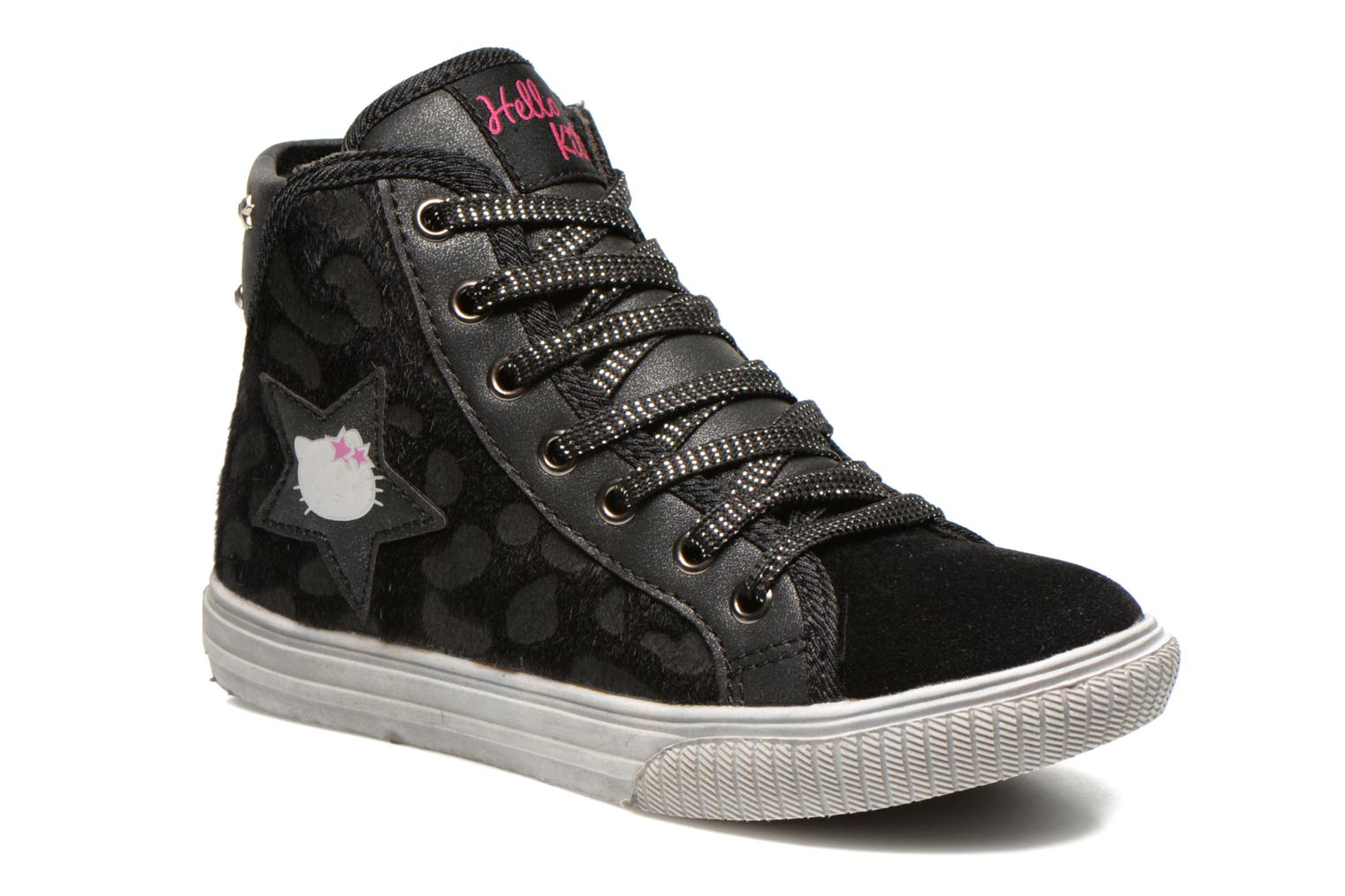 Baskets Hello Kitty HK Vatete Leo Noir vue détail/paire